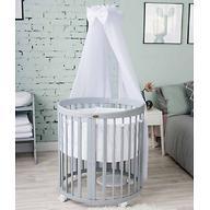 Кроватка детская Bambini овальная М 01.10.14 Серый
