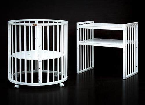 Кроватка детская Bambini овальная М 01.10.14 Белый (8)