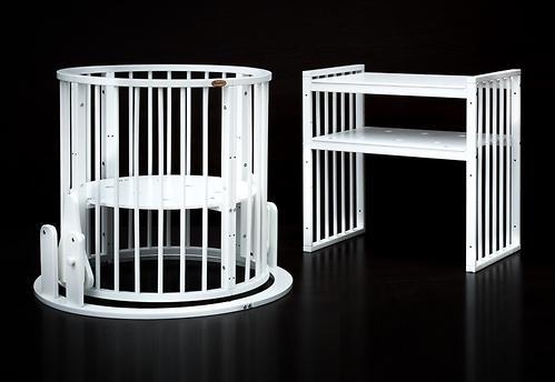 Кроватка детская Bambini овальная М 01.10.14 Белый (11)