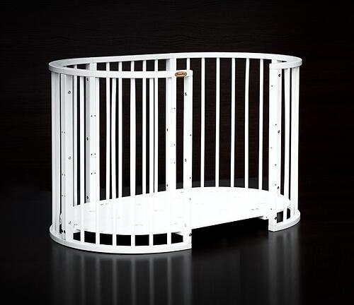 Кроватка детская Bambini овальная М 01.10.14 Белый (9)