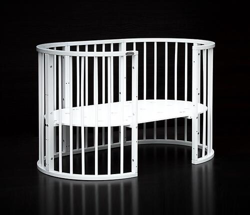 Кроватка детская Bambini овальная М 01.10.14 Белый (13)