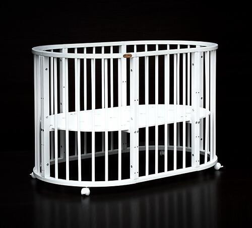Кроватка детская Bambini овальная М 01.10.14 Белый (14)