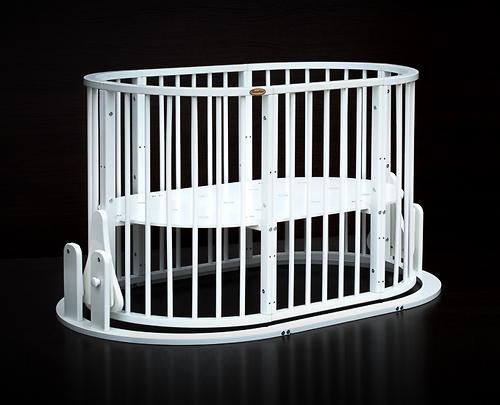 Кроватка детская Bambini овальная М 01.10.14 Белый (15)