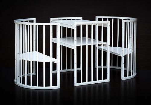 Кроватка детская Bambini овальная М 01.10.14 Белый (16)