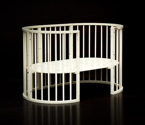 Кроватка детская Bambini овальная М 01.10.14 Слоновая кость (10)