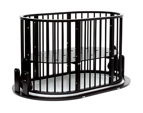 Кроватка детская Bambini овальная с маятником М 01.10.14 Темный Орех (15)