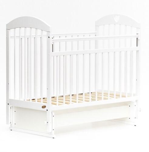 Кровать детская Bambini Комфорт M 01.10.20 Белая (4)