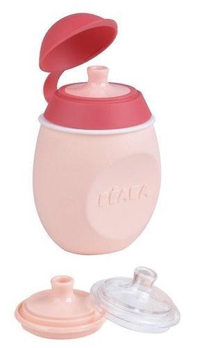 Поильник 2в1 Beaba Babysqueez Pink (7)