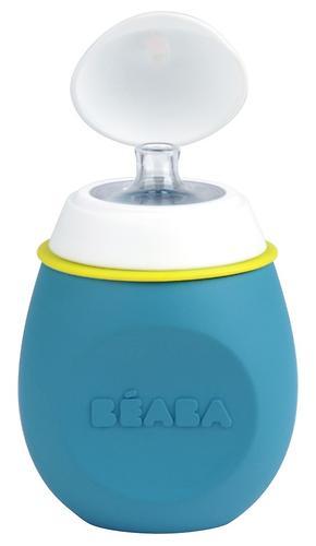 Контейнер-поильник из силикона Beaba Set babySqueez&Portion Blue (6)