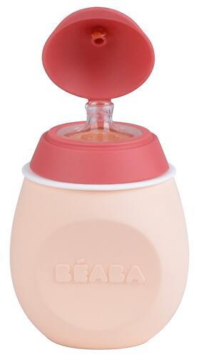 Контейнер-поильник из силикона Beaba Set baby Squeez&Portion Pink (6)
