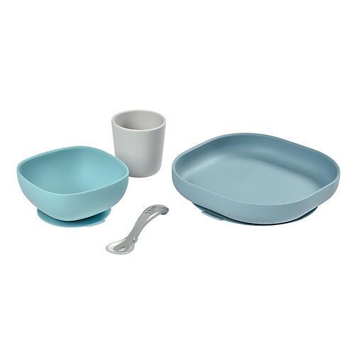 Набор посуды Beaba Coffret Repas Silic 4pc Jungle (4)