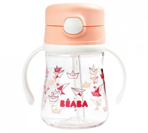 Поильник Beaba Tasse Paille 240ml Light Pink (3)