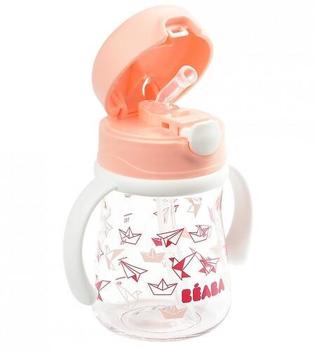 Поильник Beaba Tasse Paille 240ml Light Pink (4)