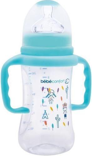 Бутылка Bebe Confort пластиковая 270мл 6-24 м с ручками Indians Голубая (1)