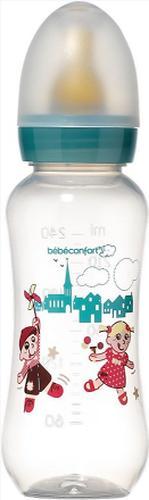 Бутылочка Bebe Confort пластиковая 240ml 0-12м PPLAT (3)