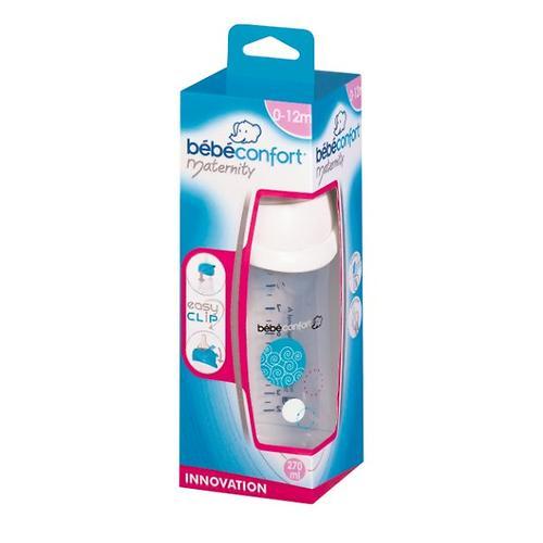 Бутылка пластиковая Bebe Confort 270мл, 0-12м Easy Clip (белая) (5)