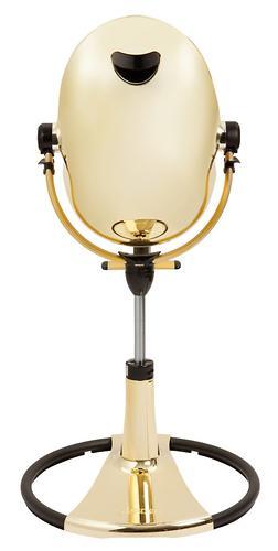Стульчик для кормления Bloom Fresco Chrome Yellow Gold c вкладышем Lunar Silver (16)