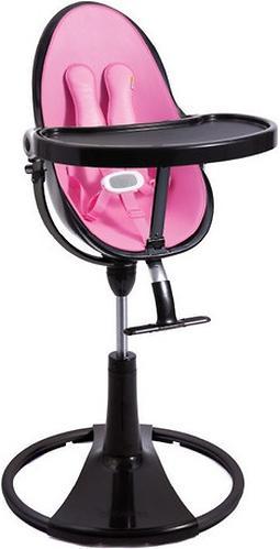 Стульчик для кормления Bloom Fresco Chrome Black с вкладышем Rosy Pink (8)