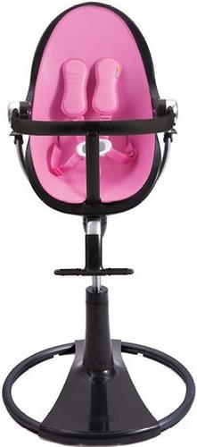 Стульчик для кормления Bloom Fresco Chrome Black с вкладышем Rosy Pink (10)