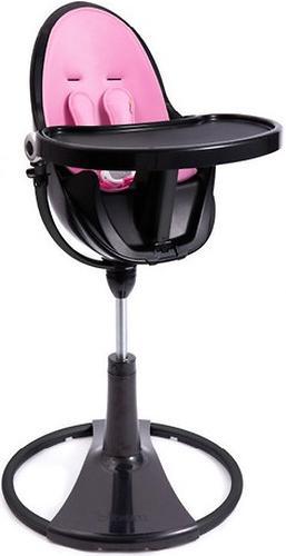 Стульчик для кормления Bloom Fresco Chrome Black с вкладышем Rosy Pink (9)