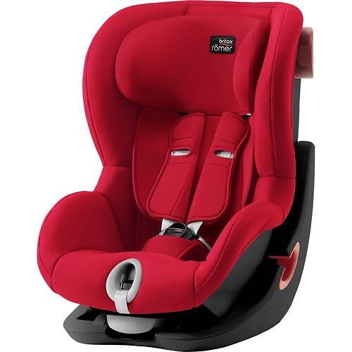 Автокресло Britax Römer King II Black Series Fire Red Trendline (5)