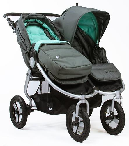 Накидка на ножки Bumbleride Footmuff & Liner Dawn Grey Mint (4)