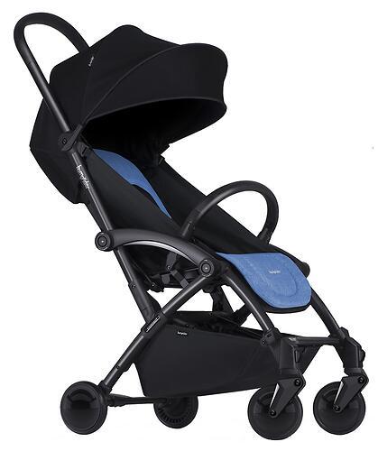 Коляска Bumprider на черной раме Connect Синяя (10)