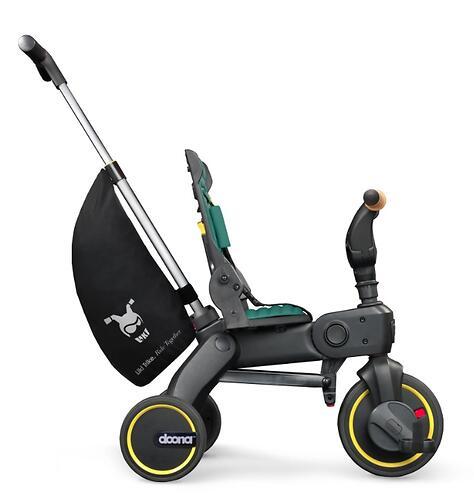 Складной трехколесный велосипед Doona Liki Trike S5 Nitro Black (14)