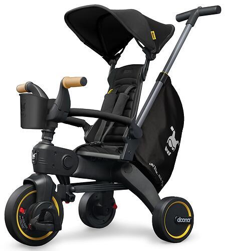 Складной трехколесный велосипед Doona Liki Trike S5 Nitro Black (11)