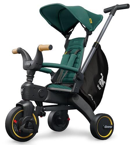 Складной трехколесный велосипед Doona Liki Trike S5 Racing Green (11)