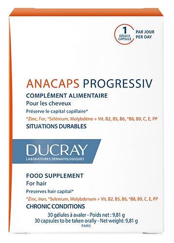 Капсулы Ducray от хронического выпадения волос Anacaps Progressiv 30 шт (1)