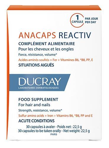 Капсулы Ducray от временного выпадения волос Anacaps Reactive 30 шт (1)