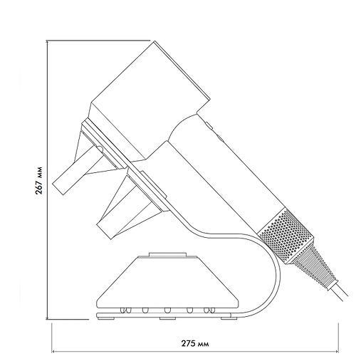 Фен Dyson Supersonic с подставкой Серо-Розовый (20)