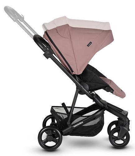Коляска прогулочная Easywalker Charley Desert Pink/Black wheels с бампером (24)