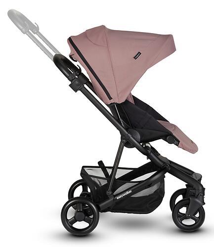 Коляска прогулочная Easywalker Charley Desert Pink/Black wheels с бампером (25)