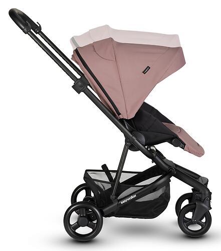 Коляска прогулочная Easywalker Charley Desert Pink/Black wheels с бампером (26)