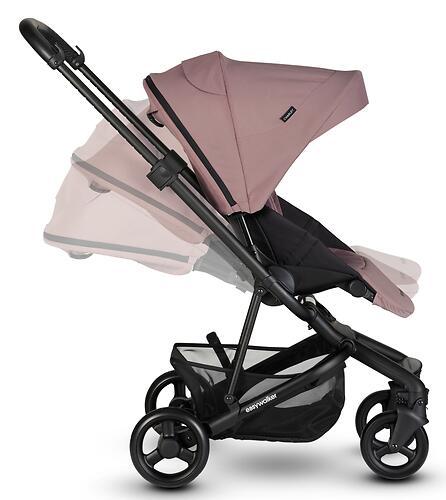 Коляска прогулочная Easywalker Charley Desert Pink/Black wheels с бампером (27)