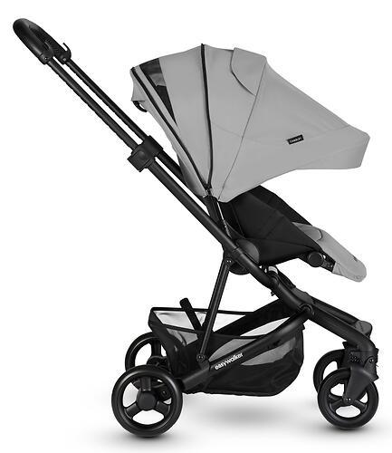 Коляска прогулочная Easywalker Charley Cloud Grey/Black wheels с бампером (14)