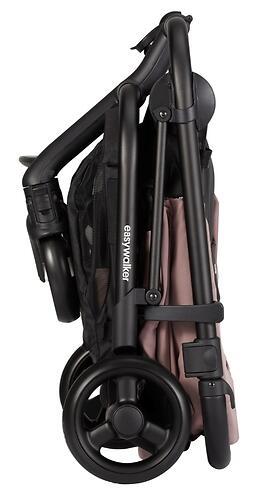Коляска прогулочная Easywalker Charley Desert Pink/Black wheels с бампером (30)