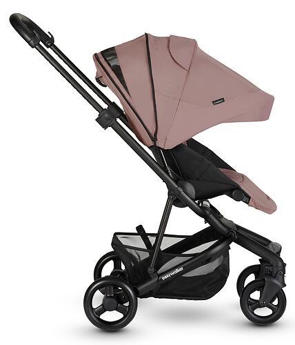 Коляска прогулочная Easywalker Charley Desert Pink/Black wheels с бампером (21)