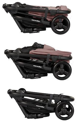 Коляска прогулочная Easywalker Charley Desert Pink/Black wheels с бампером (29)