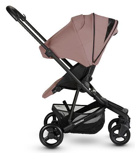 Коляска прогулочная Easywalker Charley Desert Pink/Black wheels с бампером (23)