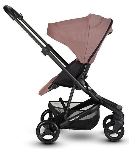 Коляска прогулочная Easywalker Charley Desert Pink/Black wheels с бампером (22)