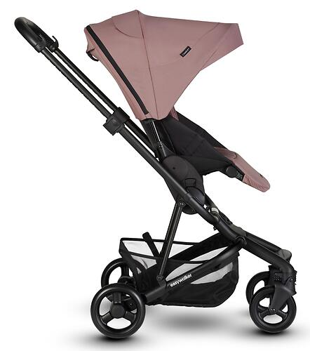 Коляска прогулочная Easywalker Charley Desert Pink/Black wheels с бампером (18)