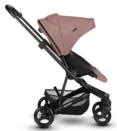 Коляска прогулочная Easywalker Charley Desert Pink/Black wheels с бампером (19)