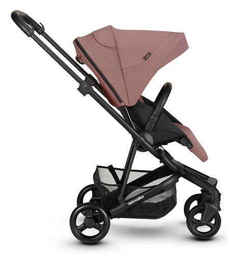 Коляска прогулочная Easywalker Charley Desert Pink/Black wheels с бампером (20)
