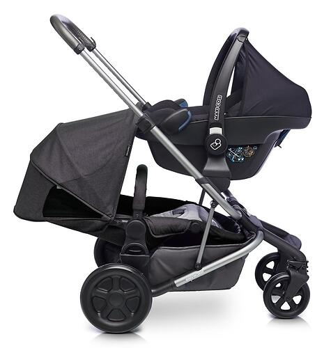 Коляска прогулочная Easywalker Harvey² Night Black Platinum Edition (17)