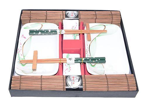 Набор Fissman для суши 10 пр. на 2 персоны (керамика, бамбук) 9582 (1)