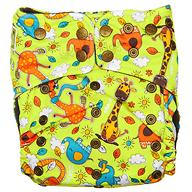Многоразовый подгузник GlorYes! Premium Жирафы 3-18 кг + 2 вкладыша