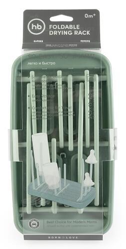 Сушка для бутылочек и аксессуаров Happy Baby Foldable Drying Rack 33010 Olive (6)